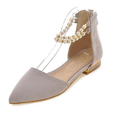 נעלי נשים-שטוחות-פליז-שפיץ-שחור / אדום / אפור-משרד ועבודה / שמלה / קז'ואל / מסיבה וערב-עקב שטוח