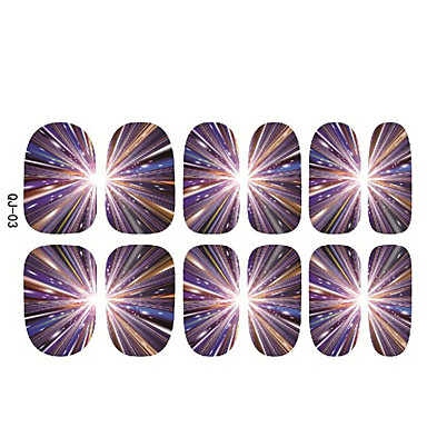 1pc Japão Harajuku o céu estrelado as unhas de cola para trás fatia adesivos 12 pós