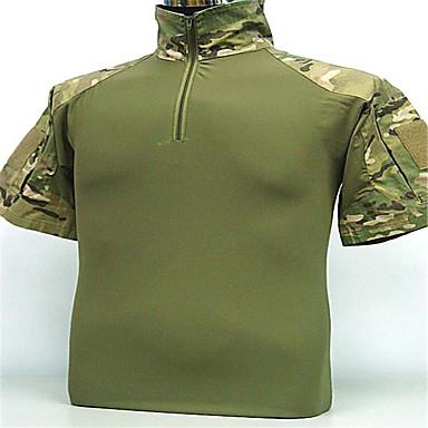Camiseta de Caçador Homens Respirável / Capilaridade Camisa / Blusas Manga Curta para Acampar e Caminhar / Caça / Pesca