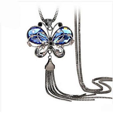 Mujer Cristal Collares con colgantes - Cristal, Resina, Brillante Vintage, Europeo, Moda Azul Gargantillas Para Boda, Fiesta, Diario