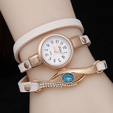 Damen Modeuhr Armband-Uhr Quartz Armbanduhren für den Alltag Legierung Band Schwarz Weiß Rot