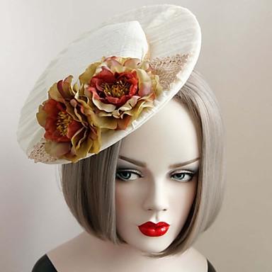 pitsi kangas hattuja headpiece häät osapuoli elegantti naisellinen tyyli