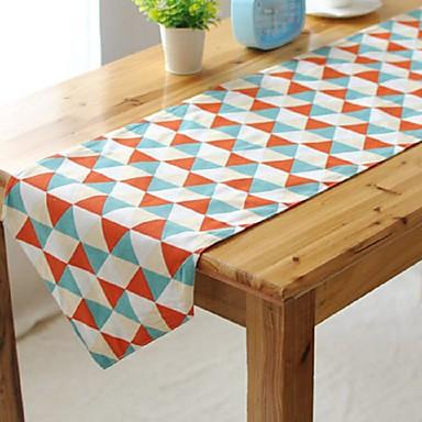 Quadratisch Mit Mustern Tischläufer , Leinen  /  Baumwollmischung Stoff Tabelle Dceoration