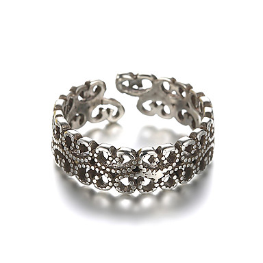 Band Ring Justerbar ring - Sølv Vintage Justerbar Sølv Til Daglig Avslappet