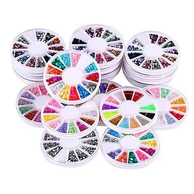 20 laatikkoa / set glitter akryyli DIY 3d kynsikoristeet strassi& koristelu kynnet art strassit koristeet tarra suunnittelu