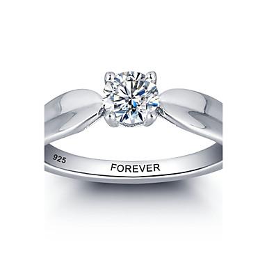 הבטחה אישית 925 כסף סטרלינג CZ אבן החתונה טבעת נישואין לנשים