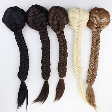 Com Presilha Rabos-de-Cavalo Cabelo Sintético Pedaço de cabelo Alongamento Encaracolado