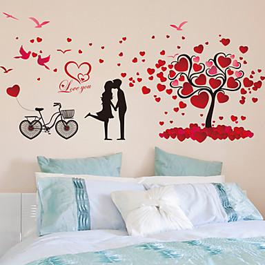 Romantik Mote Veggklistremerker Fly vægklistermærker Dekorative Mur Klistermærker Materiale Kan fjernes Hjem Dekor Veggoverføringsbilde