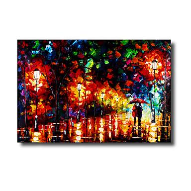 Paisagem de pintura a óleo pintada a mão de 60 * 90cm com decoração em casa de moldura