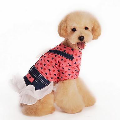 Katze Hund T-shirt Kleider Hundekleidung Urlaub Modisch Polka Dots Gelb Rot