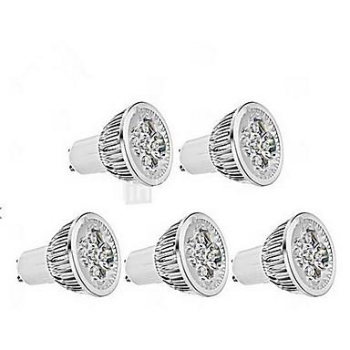 5W GU10 Точечное LED освещение MR16 1 светодиоды Диммируемая Холодный белый 400-450lm 6000-6500K AC 220-240V