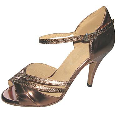 Dansesko(Brun) -Kan tilpasses-Personligt tilpassede hæle-Damer-Latin Salsa Ballet