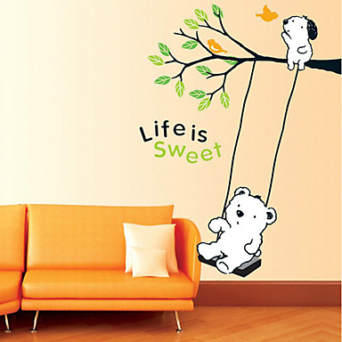 Tegneserie / Mote Wall Stickers Fly vægklistermærker,PVC 50*70cm(19.7*27.6 inch)