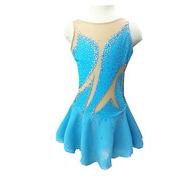 robe de patinage artistique femme fille patinage robes bleu clair strass v tements de plein air. Black Bedroom Furniture Sets. Home Design Ideas