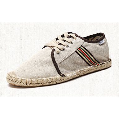 Sko-Lerret-Flat hæl-Komfort-Flate sko-Sport-Svart / Blå / Beige