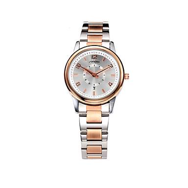 SINOBI Mulheres Relógio de Pulso Calendário / Impermeável Lega Banda Casual / Fashion / Elegante Ouro Rose / Dois anos / Sony SR626SW