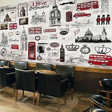 retro shinny lær effekten stor mur tapet london håndmalte art vegg dekor bakgrunn vegg papir
