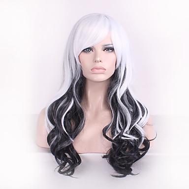 פאות סינתטיות Body Wave לבן בגדי ריקוד נשים שיער סינטטי