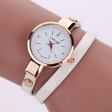 Damen Armbanduhr Armbanduhren für den Alltag Leder Band Böhmische / Modisch Schwarz / Weiß / Blau