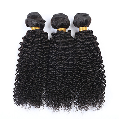 Cabelo Humano Ondulado Cabelo Brasileiro Kinky Curly 3 Peças tece cabelo
