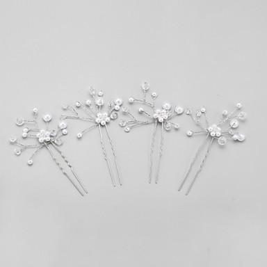 Krystall / Imitert Perle / Legering Hodeplagg / Hårnål med Blomster 1pc Bryllup / Spesiell Leilighet Hodeplagg