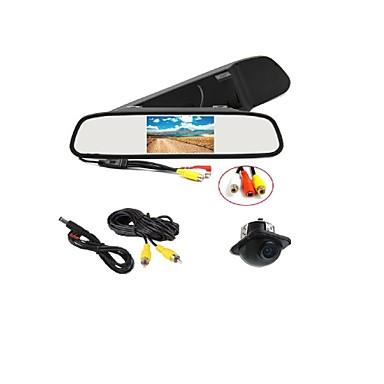 170 ° hd parkering kamera + bil bakspejl lcd display monitor