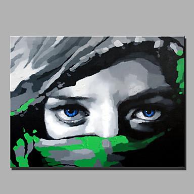 Håndmalte Mennesker Vannrett, Moderne Lerret Hang malte oljemaleri Hjem Dekor Et Panel