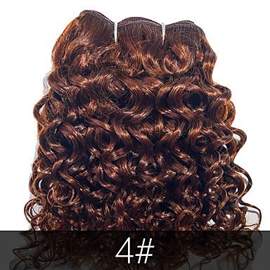 baratos Extensões de Cabelo Natural-4 pacotes Cabelo Brasileiro Encaracolado Onda de Corpo 10A Cabelo Virgem Cabelo Humano Ondulado Tramas de cabelo humano Extensões de cabelo humano