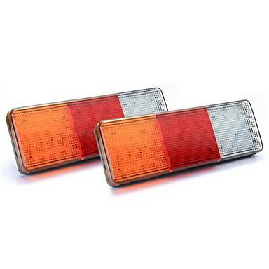 75 2x LED rot / gelb / weiß Heckleuchte Lampe für LKW-Anhänger Boot wasserdicht 12v