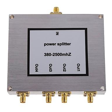 4-way 380-2500mhz reforço de sinal de telefone celular poder sma divisor divisor