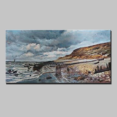 Hang malte oljemaleri Håndmalte - Landskap Klassisk Inkluder indre ramme / Stretched Canvas