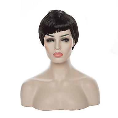 Парики из искусственных волос Кудрявый Искусственные волосы Черный Парик Жен. Короткие Парики для косплей / Черный парик Без