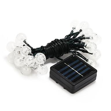 6m Lysslynger 30 LED Dip Led Varm hvit / Hvit / Multifarget Vanntett / Solar / Fest Soldrevet 1set / IP44