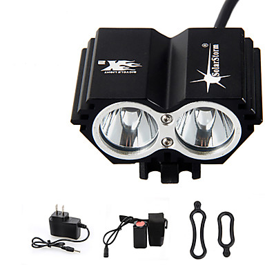 Otsalamput Pyöräilyvalot Ajovalo LED 3000 lm 4.0 Tila LED Akulla ja laturilla Ladattava Vedenkestävä Hätä Pyöräily