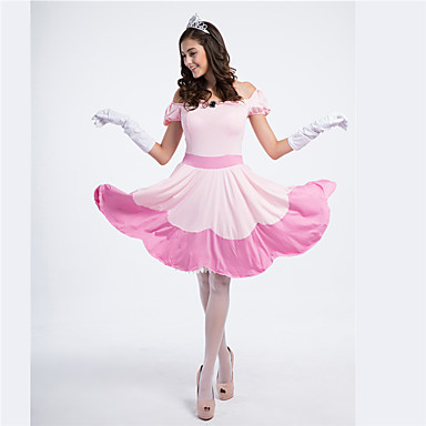 Princess Fairytale Cosplay Costumes Female Halloween Carnival Festival / Holiday Halloween Costumes Blushing Pink Patchwork