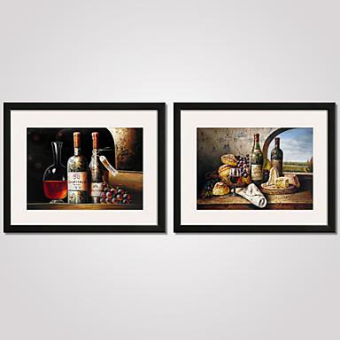 Stillleben Gerahmte Printkunst Gerahmtes Leinenbild Gerahmtes Set Wandkunst,PVC Stoff Mit Feld For Haus Dekoration Rand Kunst Wohnzimmer