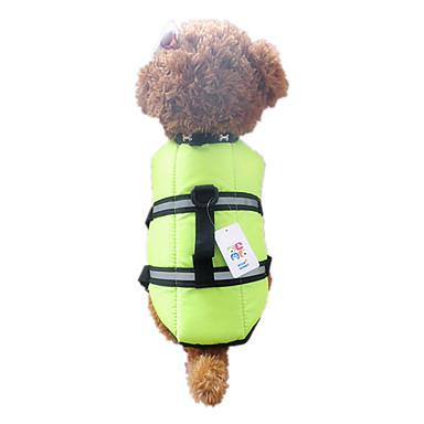 ราคาถูก อุปกรณ์สำหรับสัตว์เลี้ยง-สุนัข เสื้อกั๊ก เสื้อชูชีพ Dog Clothes ส้ม สีเขียว ไนลอน เครื่องแต่งกาย สำหรับ ฤดูใบไม้ผลิ & ฤดูใบไม้ร่วง ฤดูร้อน สำหรับผู้ชาย สำหรับผู้หญิง กันน้ำ