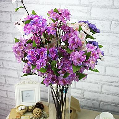 en gren silke sakura kunstige blomster 1pc / sett