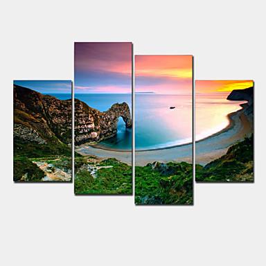 Pingoitetut kanvasprintit Moderni 4 paneeli Horizontal Wall Decor Kodinsisustus