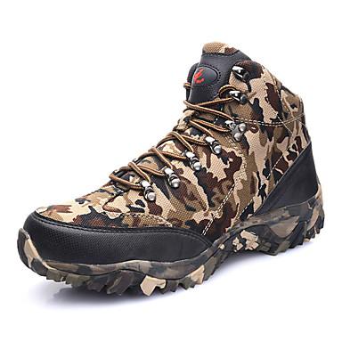 Herre-Kustomiserte materialer-Flat hæl-Komfort Cowboystøvler Ridestøvler MotestøvlerFriluft Kontor og arbeid Fritid Sport Work & Safety-