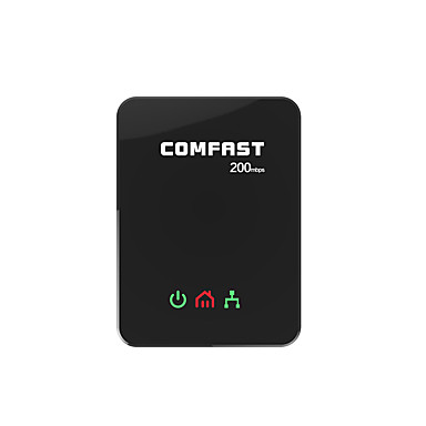 Comfast wifi Reichweite Extender Powerline Netzwerkadapter 200mbps rj45 eu plug-cf-wp200m -schwarz (2 Stück)