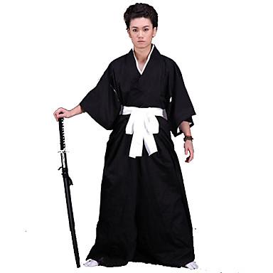 Inspirat de Cosplay Cosplay Anime Costume Cosplay Costume Cosplay Kimono Mată Lenjerie de Corp Centură Kimono Coat Hakama pants Pentru