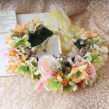 Stoff Blumen Kränze Kopfschmuck Hochzeitsgesellschaft elegant femininen Stil