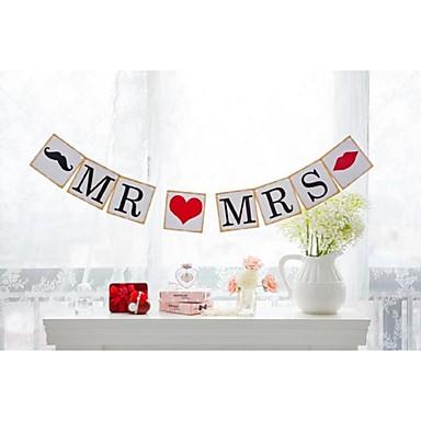 Bryllup Engasjement Utdrikningslag Hardt Kortpapir Bryllupsdekorasjoner Strand Tema Hage Tema Blomster Tema Vinter Vår Sommer Høst