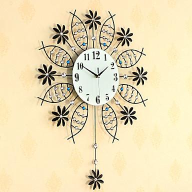 Rund / Nyhet / Andre Moderne / Nutidig Wall Clock,Blomst / Botanikk / Dyr / Naturskjønn / Bryllup / Familie Glass / Metall72cm x 56cm(