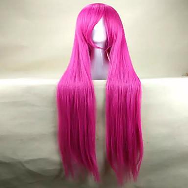 Synthetische Perücken / Perücken Glatt Rosa Synthetische Haare Rosa Perücke Damen Sehr lang Rosa hairjoy
