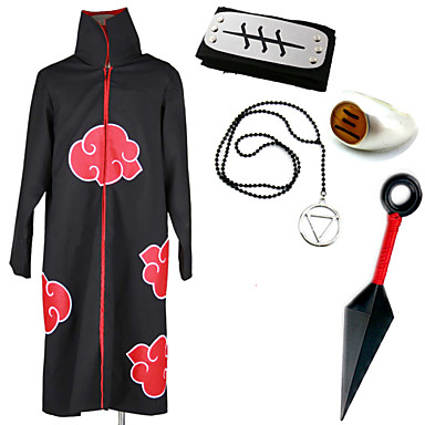 Inspired by Naruto Hidan Anime Cosplay Costumes Cosplay Suits Cosplay Accessories Print Cloak More Accessories For Male