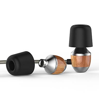 VJJB VJJB K4S Im Ohr Mit Kabel Kopfhörer Ausgeglichener Armatur Holz Handy Kopfhörer Mit Lautstärkeregelung Lärmisolierend Mit Mikrofon