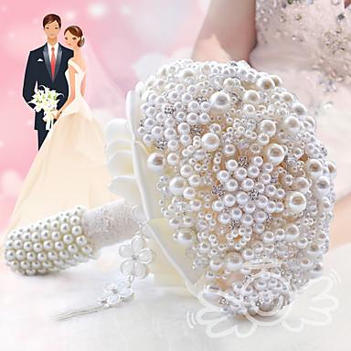 Bouquets de Noiva Buquês Casamento / Festa / Noite Miçangas / Cristal / Renda 9.84