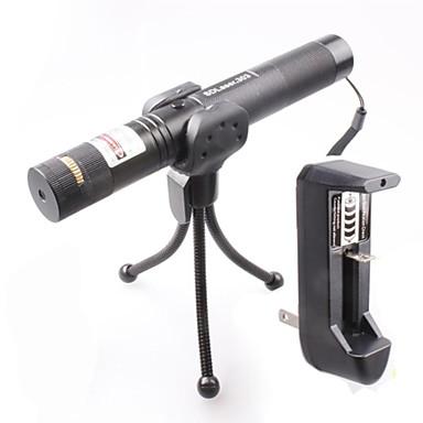 -E 0674 se poate încuia Muti-image meci reglabil ardere laser pointer verde (1mW, 532nm, 1x18650, negru)